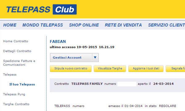 fatture telepass family